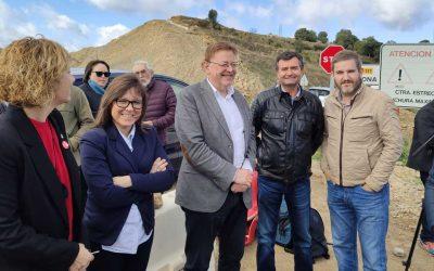 El PSOE de Teruel y el de Castellón se unen en un acto por la N-232 en Morella