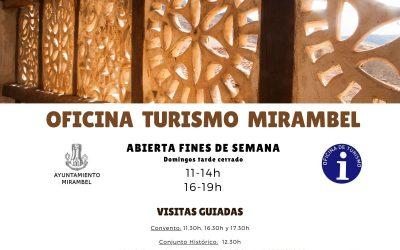 HORARIO OFICINA DE TURISMO  VISITAS GUIADAS